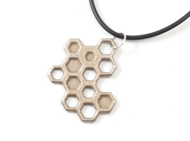 Honeycomb Necklace in Stainless Steel