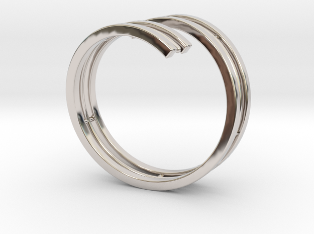 Bars & Wire Ring Size 12 3d printed