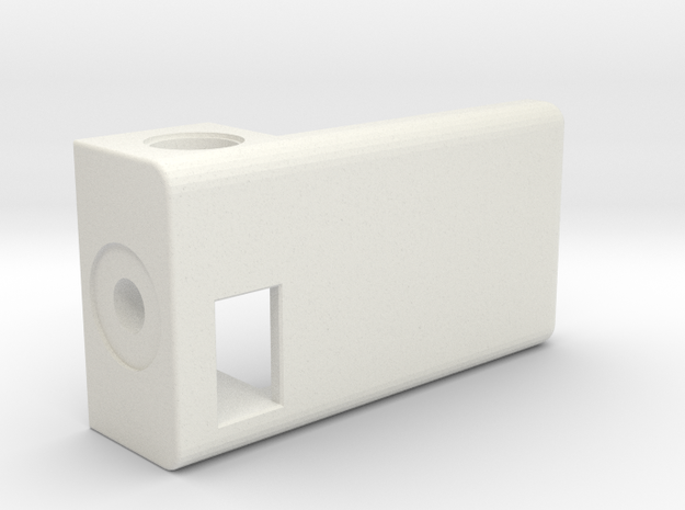 1550P BoxMod-Extension V2 in White Natural Versatile Plastic