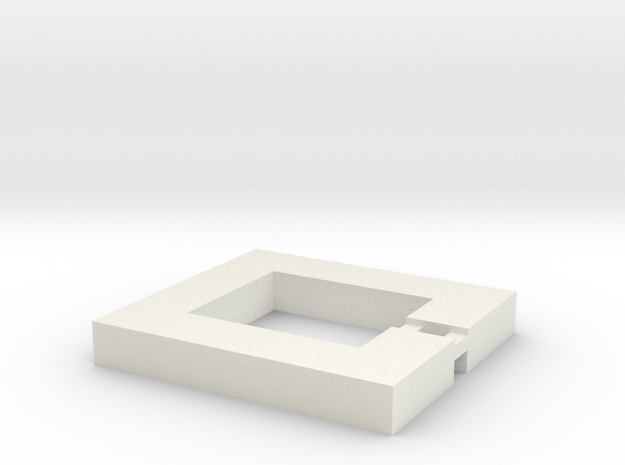 Square Keychain in White Strong & Flexible