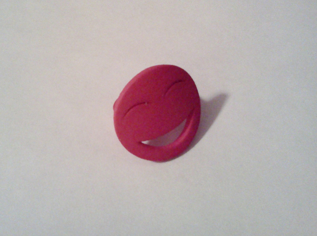 Smile/Laughing Ring Size 4, 14.9 mm in Pink Strong & Flexible Polished