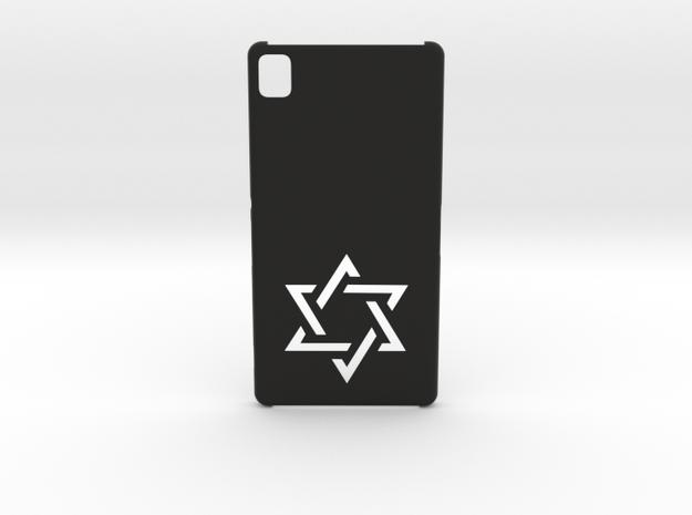 Sony Xperia Z3 Case: Israëli Star in Black Natural Versatile Plastic