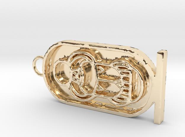 Tutankhamen's Throne Name in 14K Gold