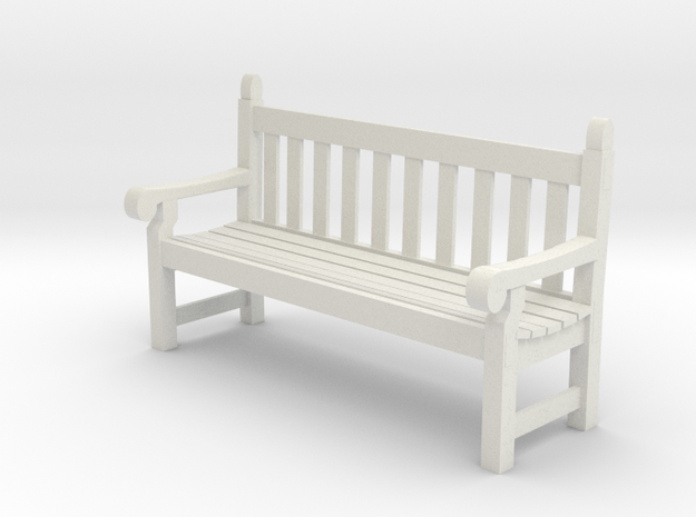 SE scale Hyde Park Bench in White Natural Versatile Plastic
