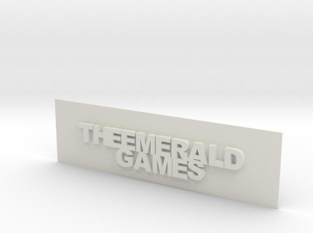 THE EMERALD GAMES PLAT in White Natural Versatile Plastic
