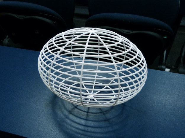 Ellipsoid in White Natural Versatile Plastic