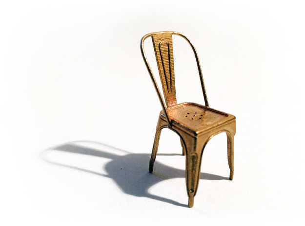 1:24 Pauchard Chair in Natural Brass