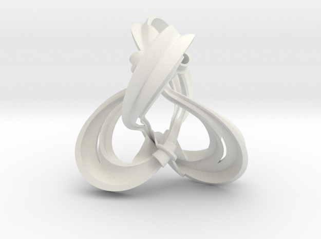 Figure 8 knot complement triangulation (0.8 scale) in White Natural Versatile Plastic