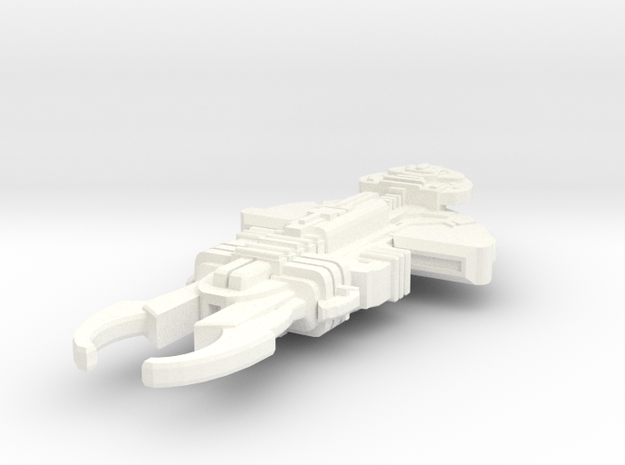 Trok'tear Large Destroyer in White Processed Versatile Plastic