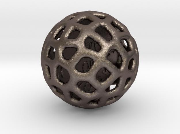 ZWOOKY Style 3406  -  Sphere in Polished Bronzed Silver Steel