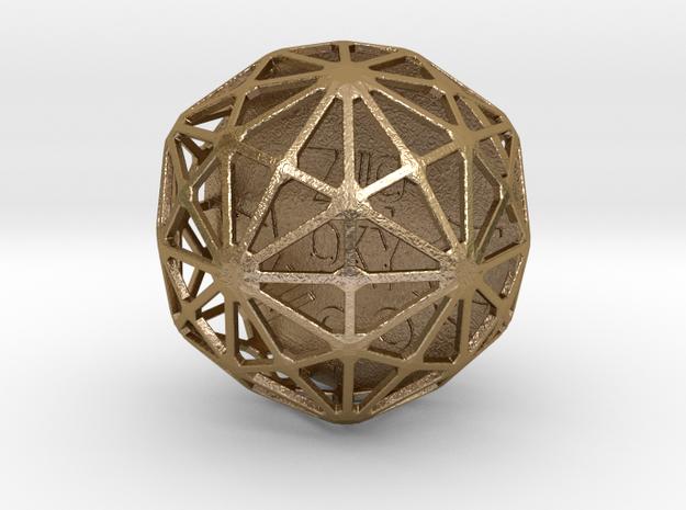 ZWOOKY Style 3404  -  Sphere in Polished Gold Steel