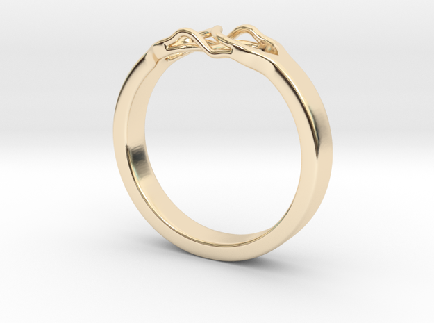 Roots Ring (21mm / 0,82inch inner diameter) in 14K Yellow Gold