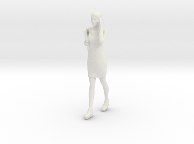 Half Scale Woman Walking in White Natural Versatile Plastic
