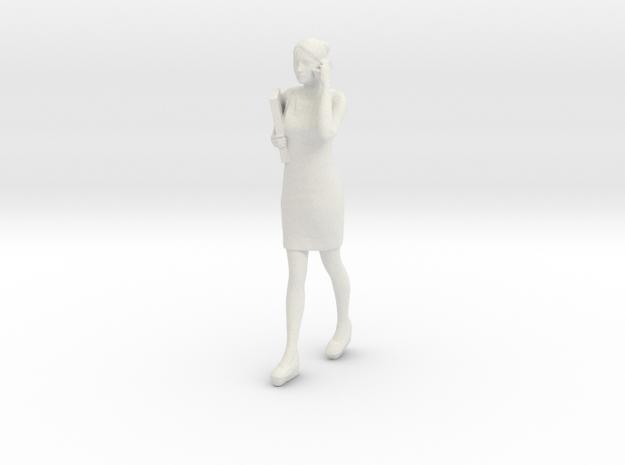 Half Scale Woman Walking in White Strong & Flexible