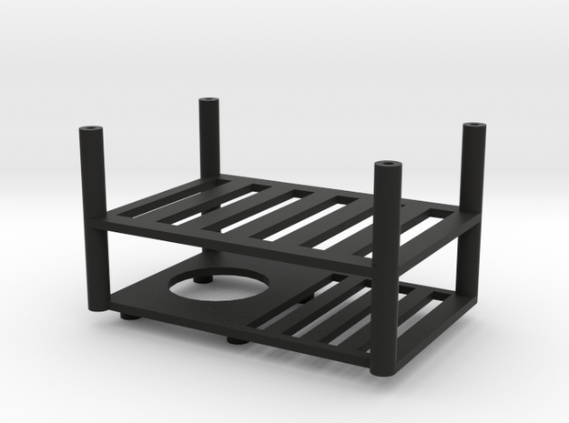 Quanum Trifecta two layer electronics platform in Black Natural Versatile Plastic