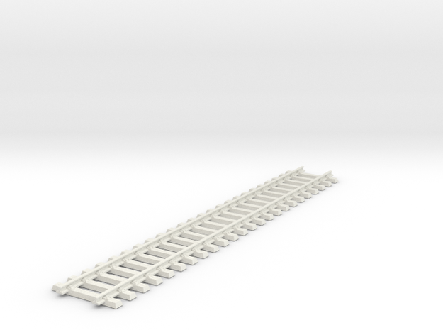 Track with sleepers(1:30 Scale) in White Natural Versatile Plastic