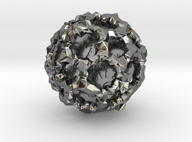 ZWOOKY Style 3414  -  Sphere in Fine Detail Polished Silver