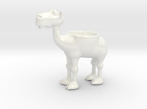 Egg Camel - porcelain eggcup 3d printed