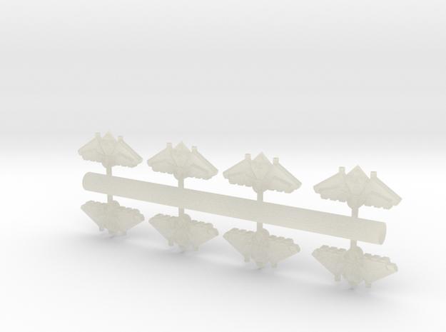 8 Arachnid Fighters 3d printed