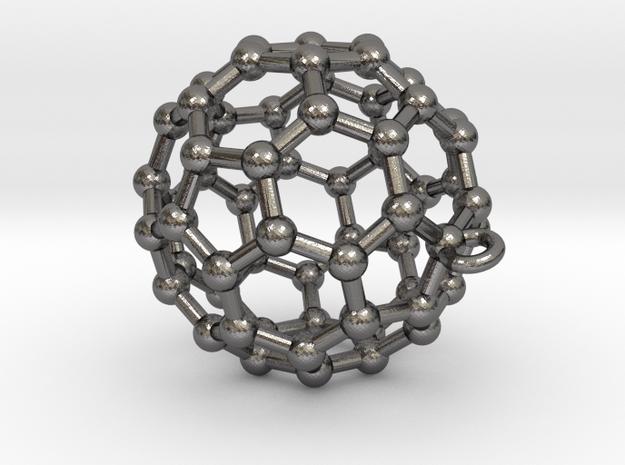 BuckyBall C60 Pendant Metal ~ 3cm 3d printed