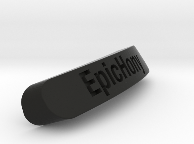 Epichony Nameplate for SteelSeries Rival in Black Natural Versatile Plastic