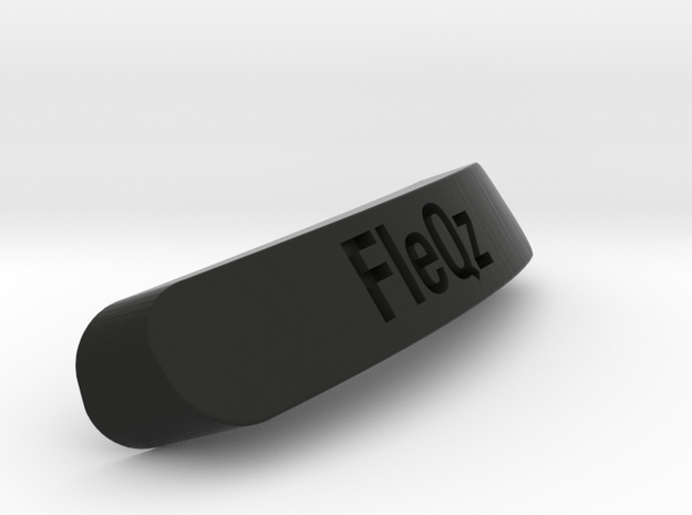 FleQz Nameplate for SteelSeries Rival in Black Strong & Flexible