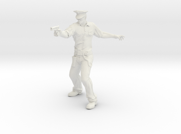AppFX Policeman in White Strong & Flexible