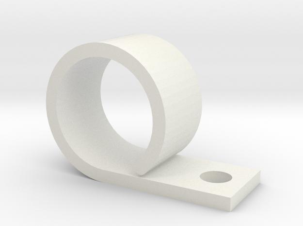Pinball Cabinet Wire Strap (Medium) in White Natural Versatile Plastic