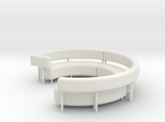 1:48 Circular Couch/Sofa Sectional Complete