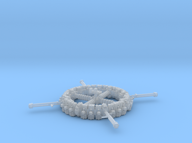 Space Dock in Smooth Fine Detail Plastic