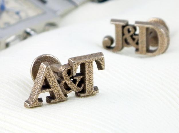Personalised Initial Cufflinks in Stainless Steel