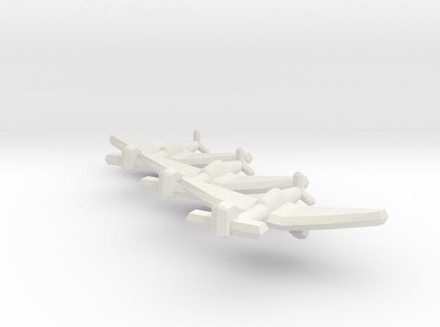 Junkers Ju 87D-5 1:900 (Triplet) in White Natural Versatile Plastic