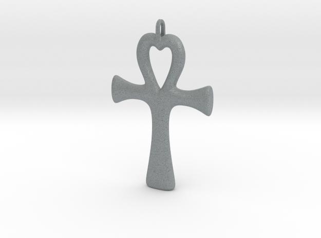 Ankh heart pendant 3d printed