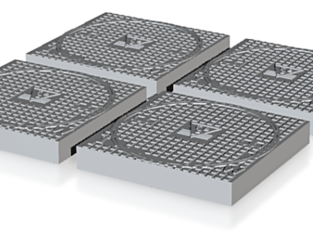 putdeksel  sewer lid Kanalisation Deckel  h0 3d printed