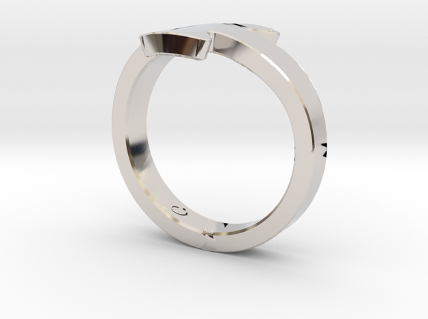 Seagull ring  in Rhodium Plated