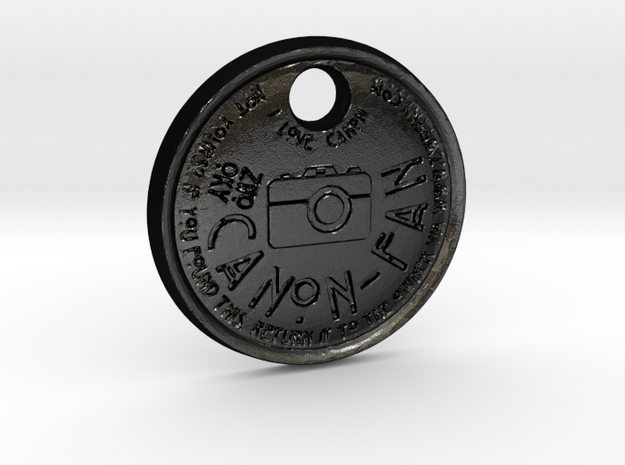 ZWOOKY Style 111 Sample - keychain I love Canon in Matte Black Steel