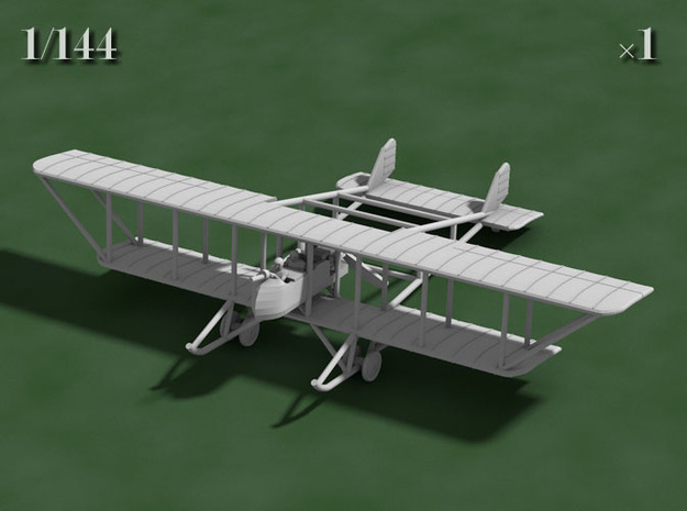 "Maurice Farman MF.11 ""Shorthorn"" 3d printed Computer render of 1:144 MF11"