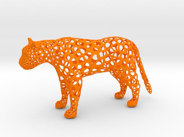 proud Leopard in Orange Processed Versatile Plastic