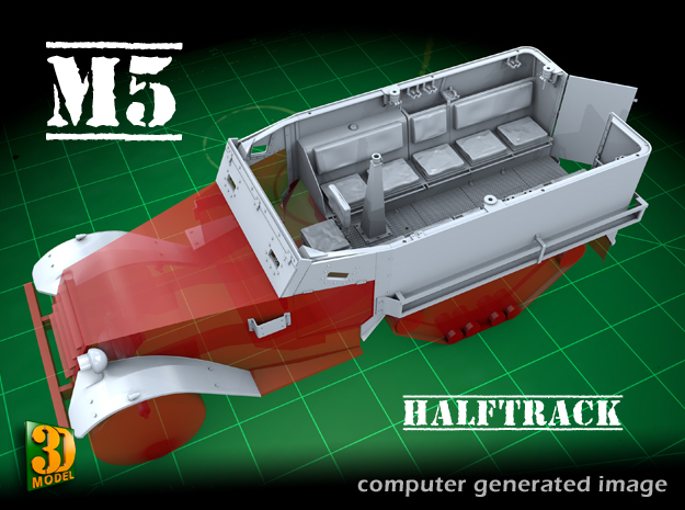 M5 IHC Halftrack conversion (1:35) in Smooth Fine Detail Plastic