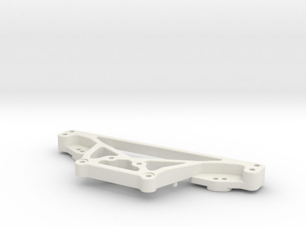 RC10DS Rear shock tower in White Natural Versatile Plastic