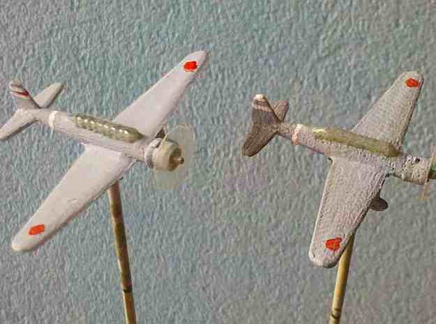 "1/300 Mitsubishi Ki30 ""Ann"" in White Strong & Flexible"