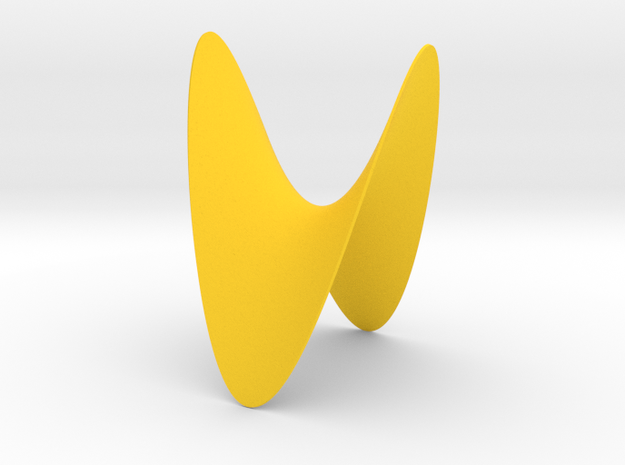 A Hyperbolic Paraboloid in Yellow Processed Versatile Plastic