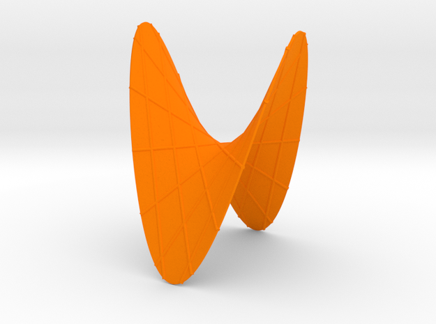 A Hyperbolic Paraboloid, with some Lines in Orange Strong & Flexible Polished