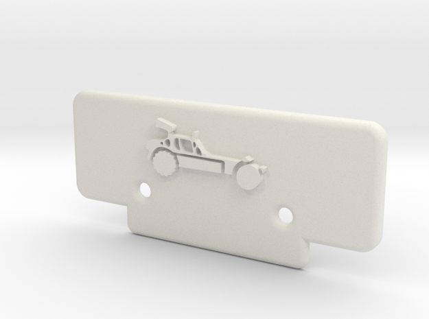 RC10T Bumper w/ AE Buggy Logo in White Natural Versatile Plastic