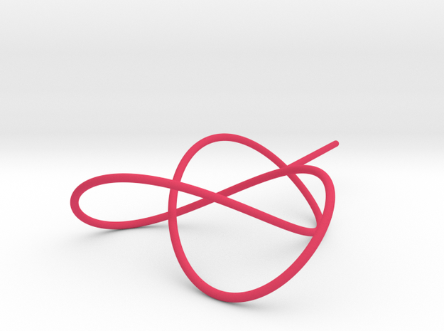 Trefoil Knot for Soap Experiments in Pink Processed Versatile Plastic