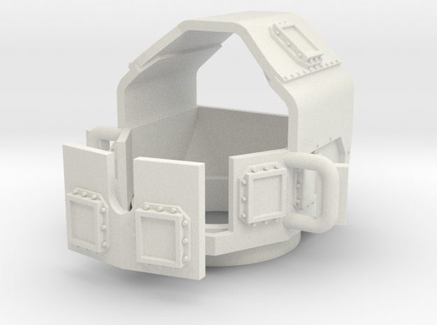 ~1/87 HO M1114-v1-turret-enclosed in White Strong & Flexible