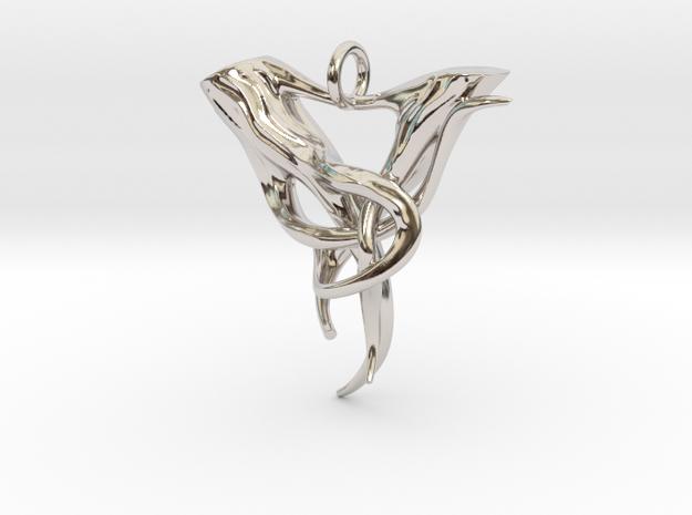 """Elven Pendant """"Airmid"""" in Rhodium Plated"""