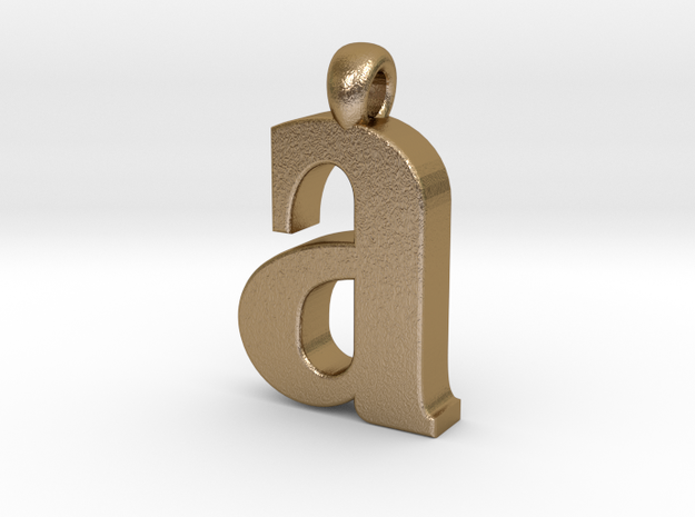 Lowercase A 3d printed