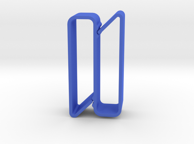 S Belt Clip for Thick Tool Belts (Medium Duty) in Blue Processed Versatile Plastic