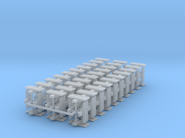 """1/64th Equipment track link set 2. 120 links 24"""" w in Smooth Fine Detail Plastic"""